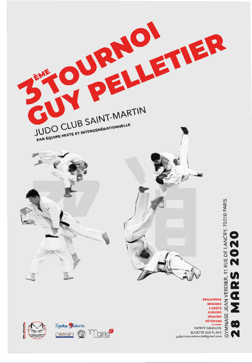 Save the date : 28 Mars 2020! 3ème Tournoi Guy Pelletier